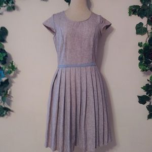 Fleet Collection Pleated Mini Dress Made in USA
